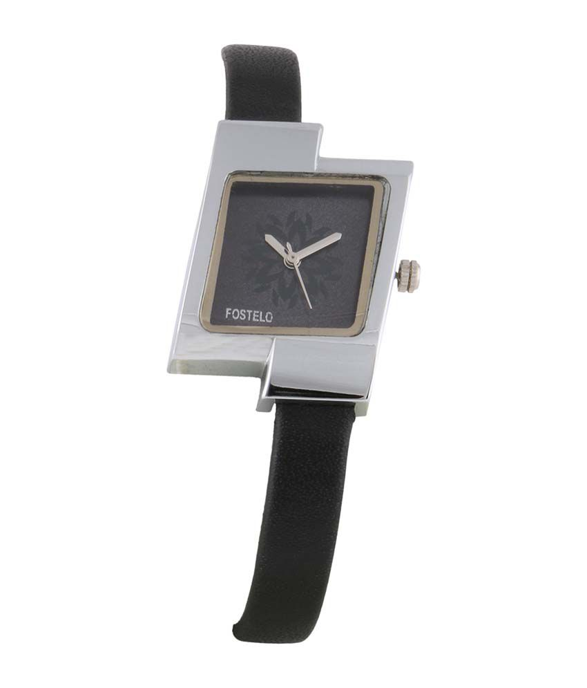 Fostelo Gray Square Dial Analog Casual Watch