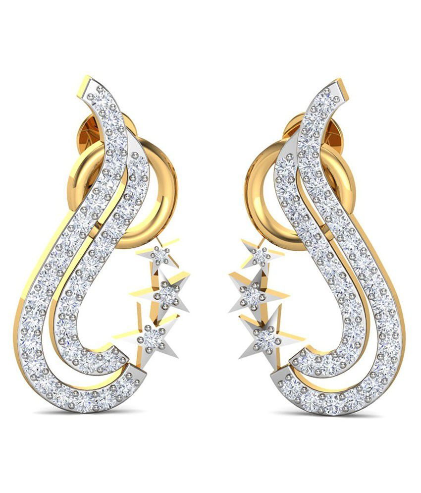 Diaashi 18kt Gold and Diamond Stud Earrings