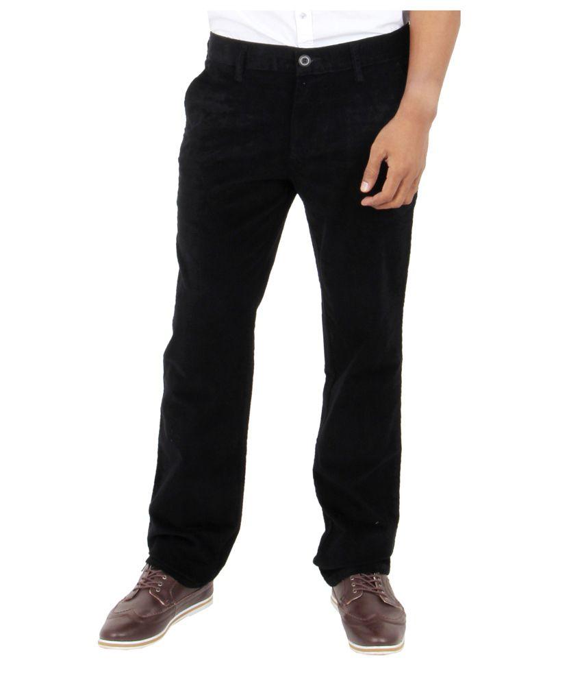 Killer Black Regular Fit Formal Corduroy Trouser