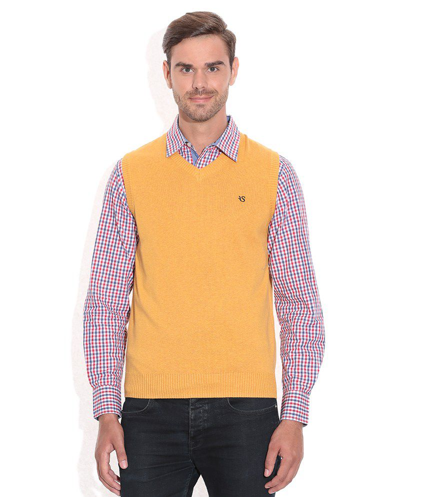 Yellow V Neck Sweater 39