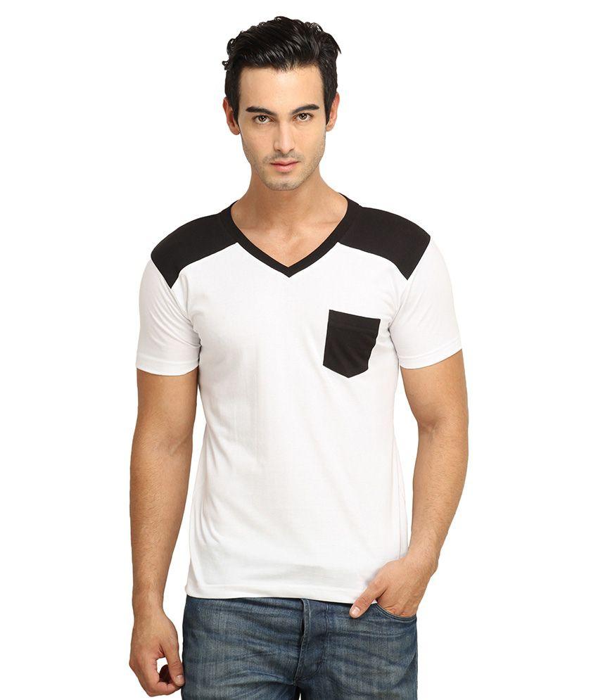 FIO White Cotton T-Shirt
