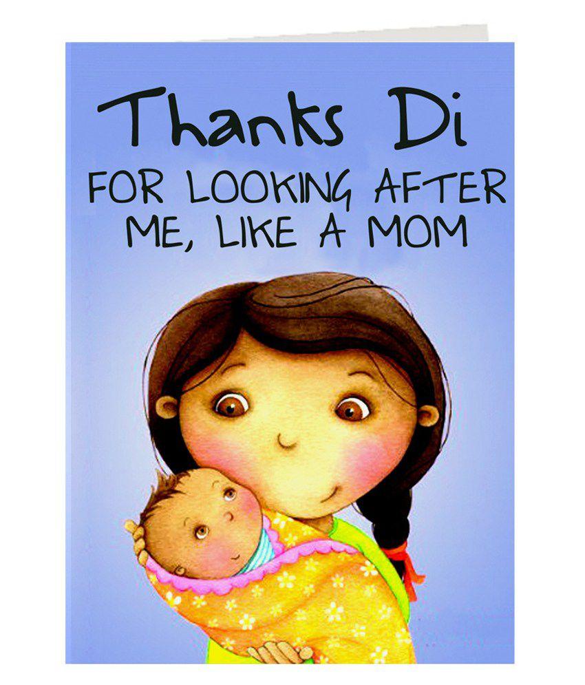 Giftsbymeeta Printed Thanks Di Rakhi Greeting Card Buy Online At
