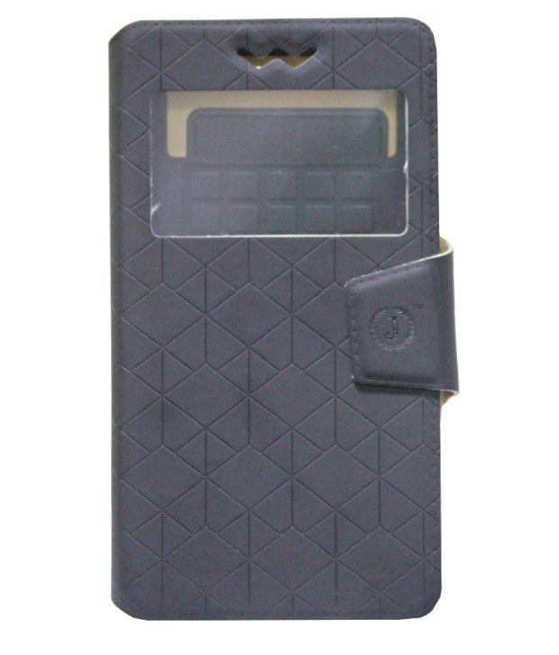 Jo Jo Cover Toto Series Flip Case With Silicon Holder For Samsung Galaxy Core II Dual SIM SM-G355H - Black