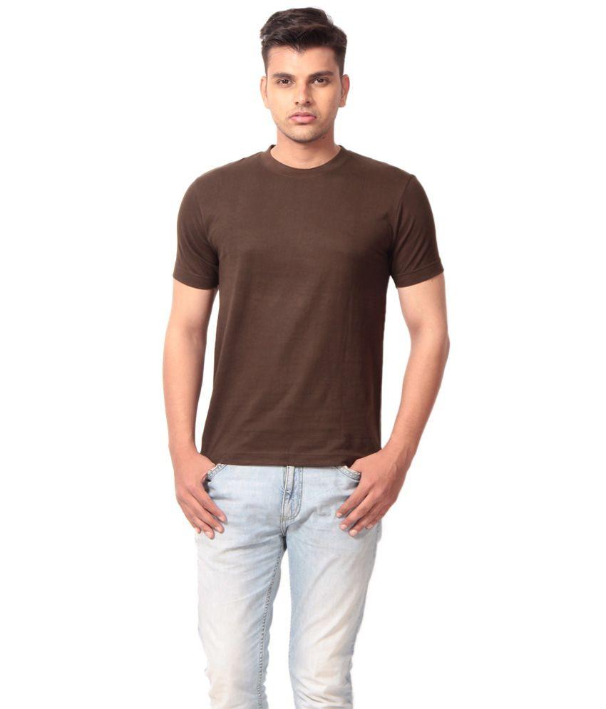 Kapoor Brown Cotton T-shirt
