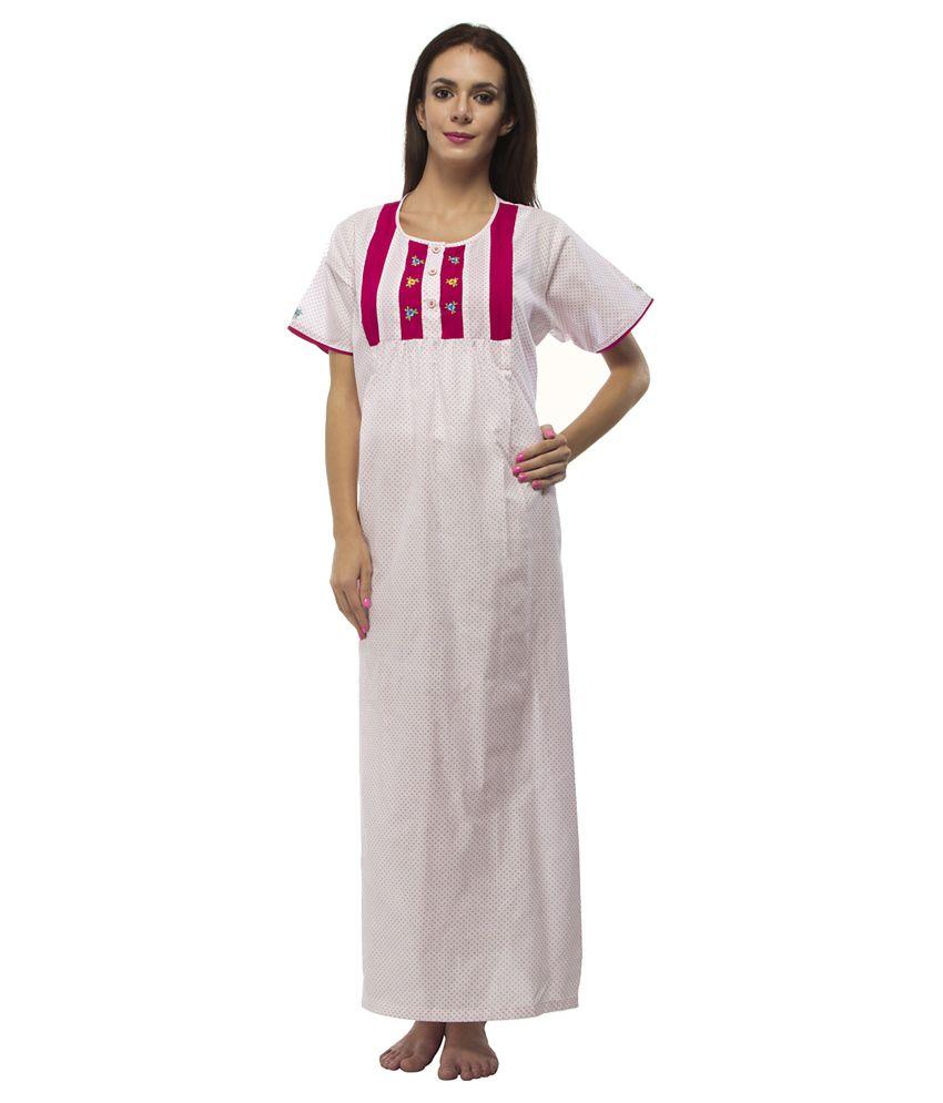 Trendy Comfortable Round neck Pink Cotton Half Sleeve Loose...