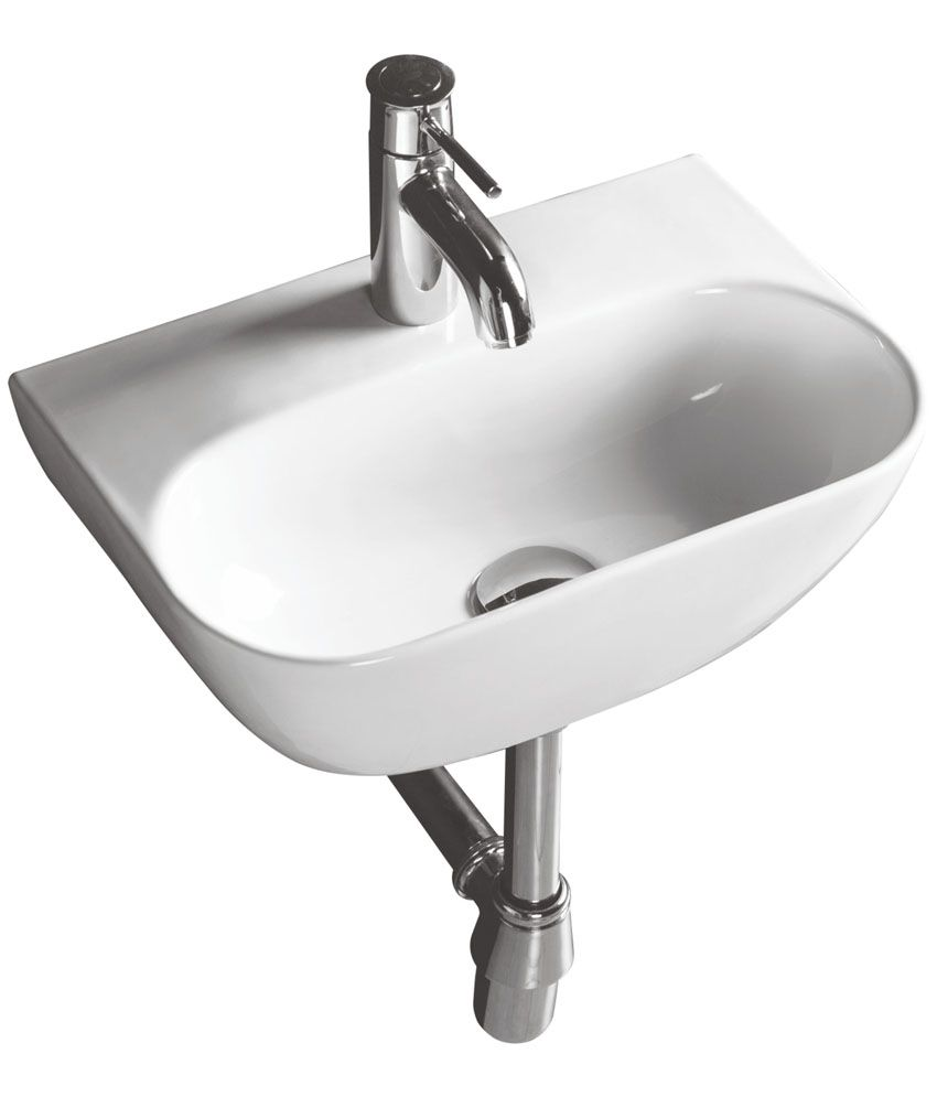 buy varmora zita wall hung wash basin white online at low price in rh snapdeal com