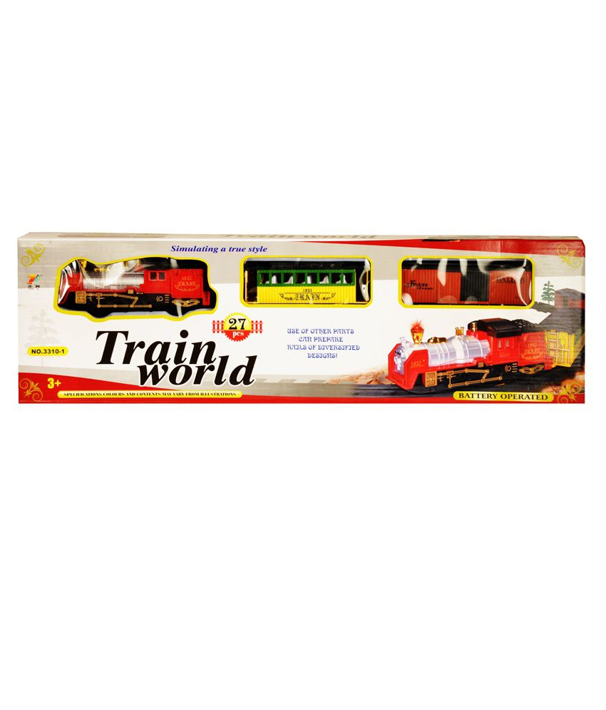 Zest4toyz Multicolor ABS Plastic Train With Track Set