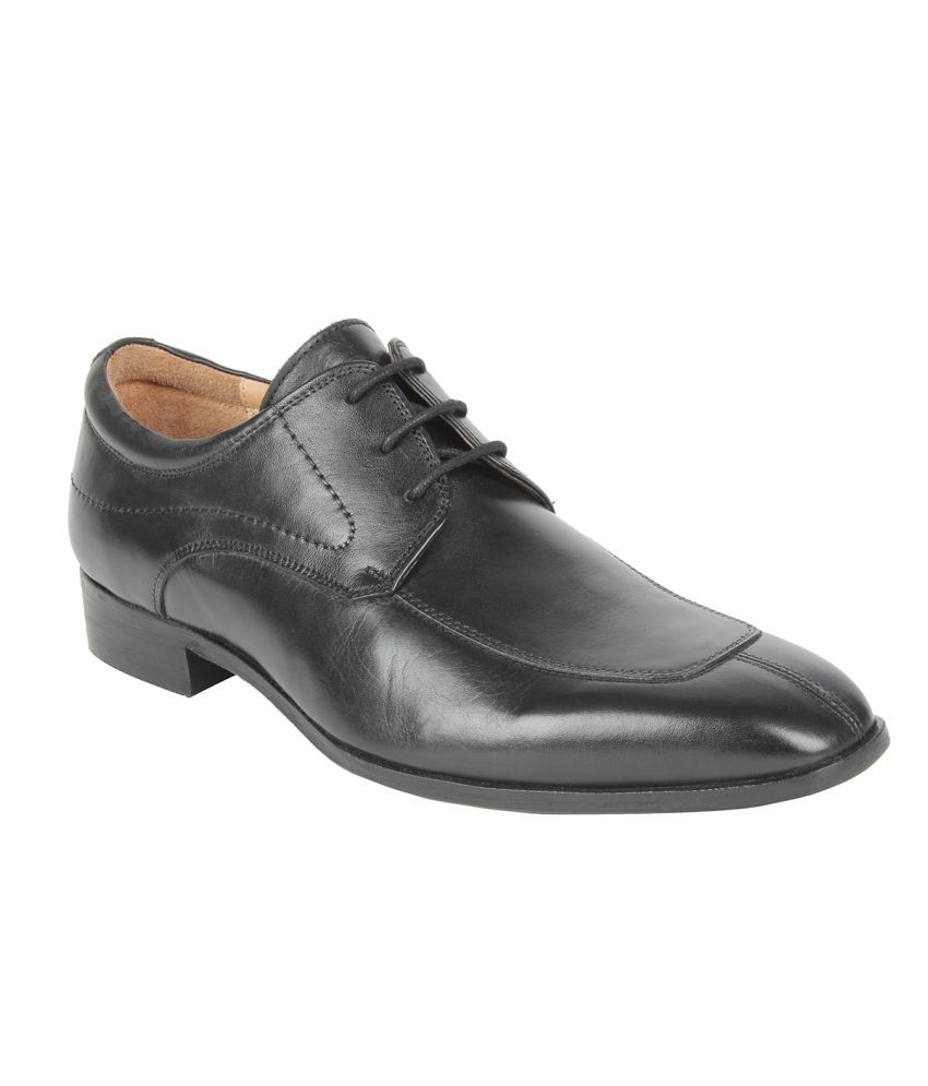 Salt N Pepper Black Formal Shoes