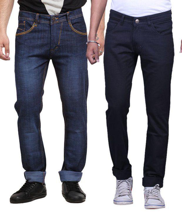 Xcross Cotton Blend Regular Jeans (Pack Of 2)