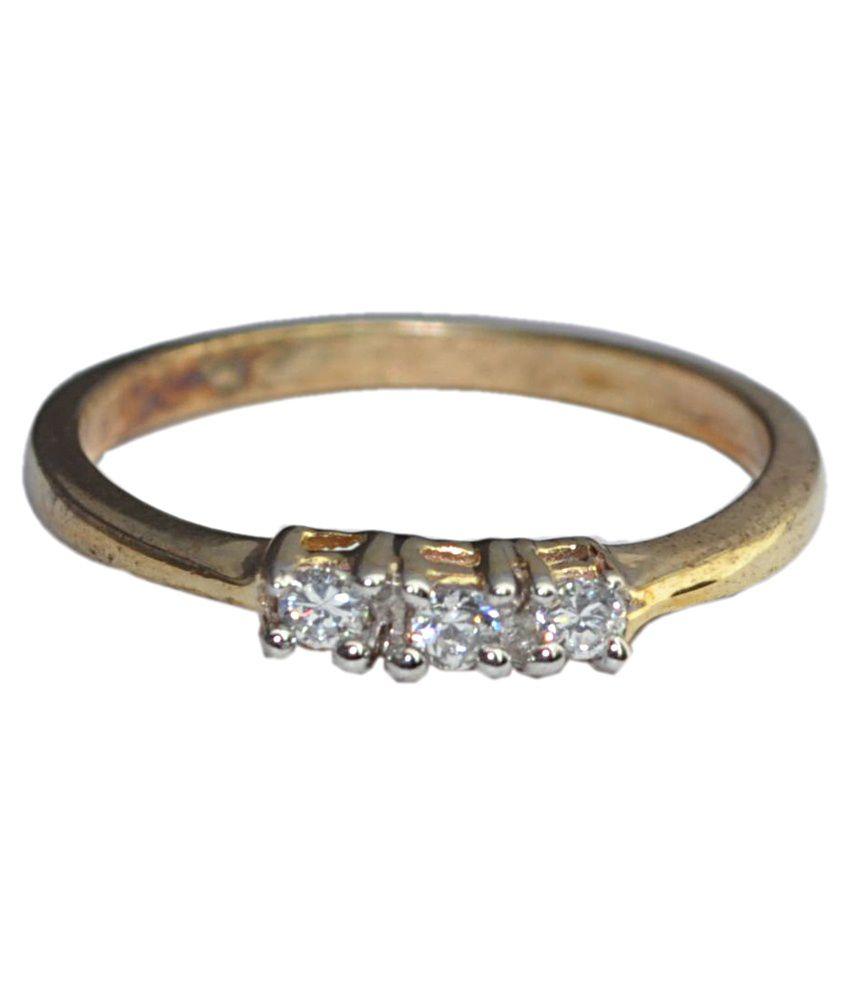 G V Jewels Golden Silver Alloy Ring