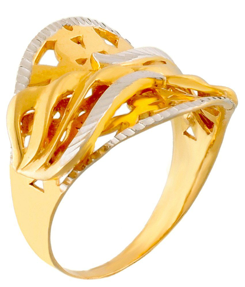Jewel One Hallmarked 18Kt Fascinating Gold Ring
