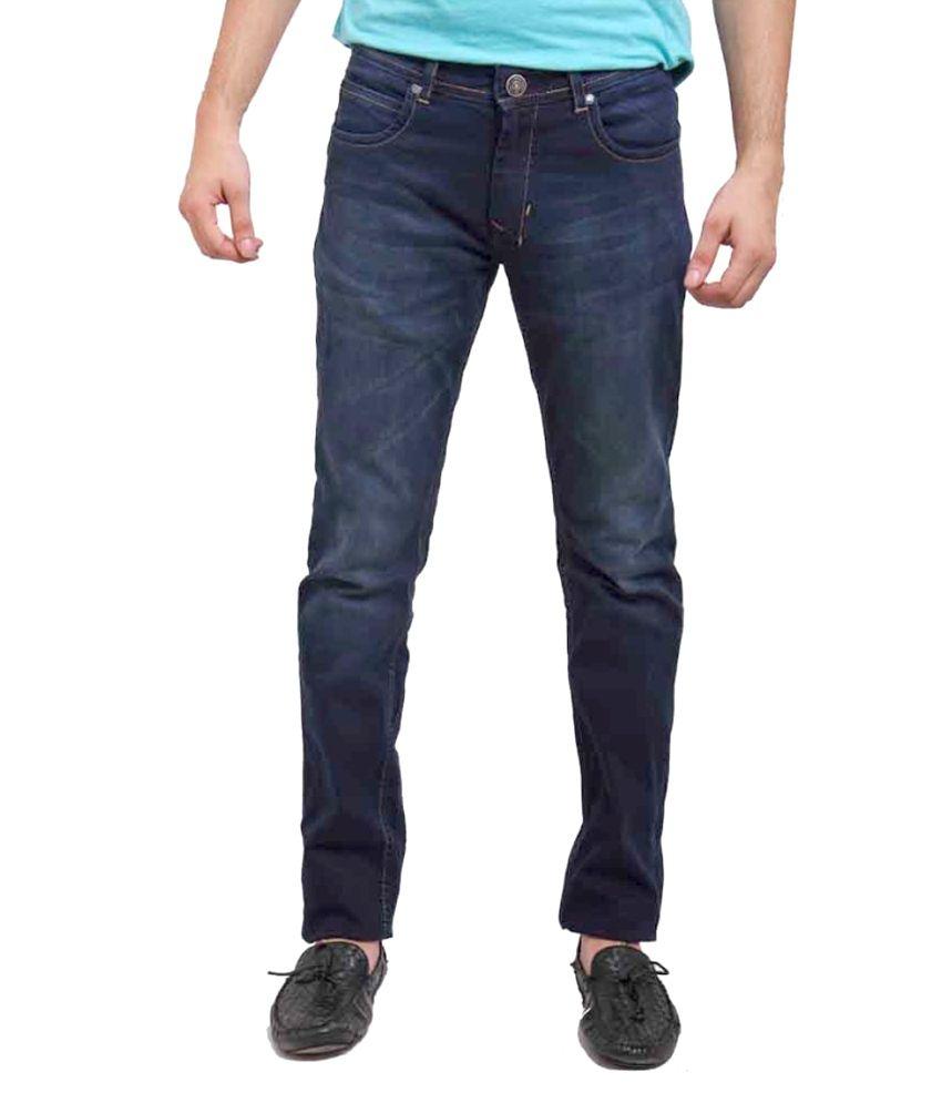 Nattg Blue Cotton Slim Fit Jeans
