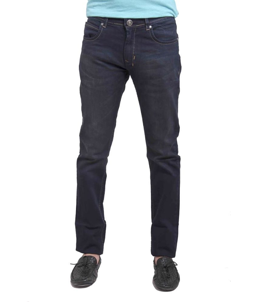 Nattg Blue Cotton Slim Fit Jeans