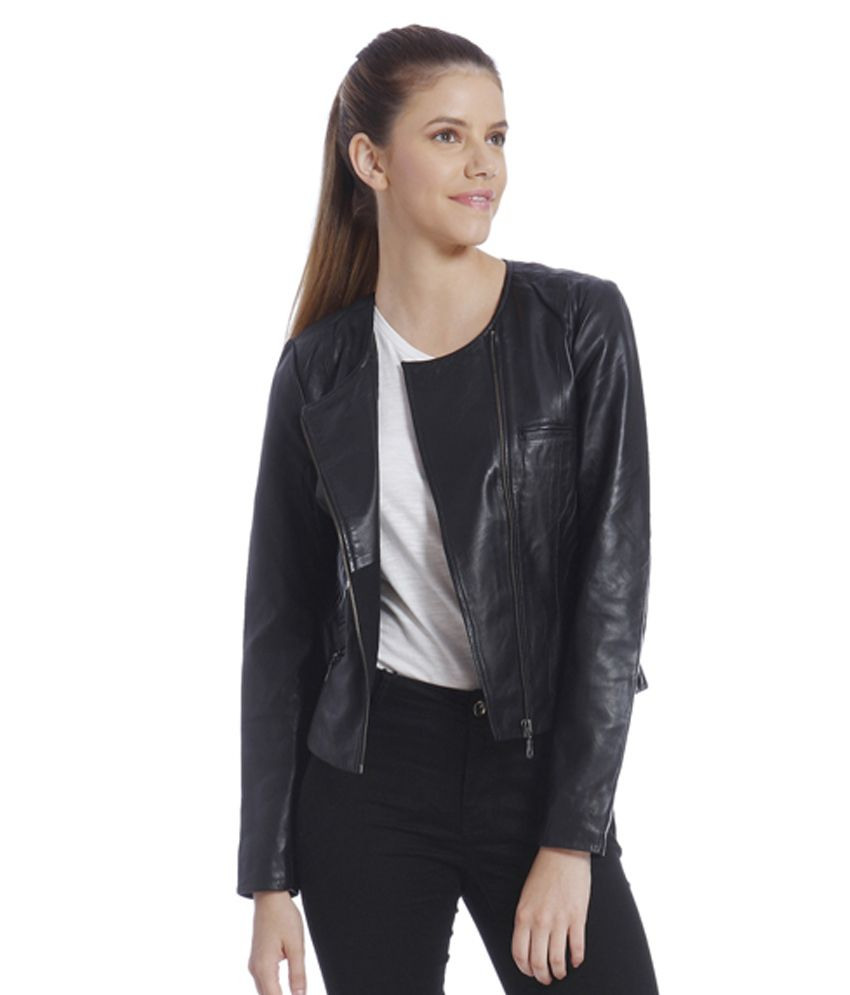 Vero moda leather jacket india