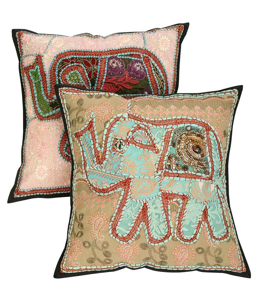 Rajrang Multicolour Cotton Cushion Covers Pack Of 2