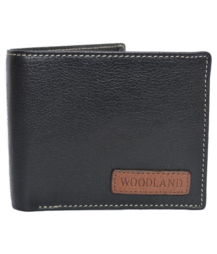 Woodland Black Leather Formal Wallet Art W524004BLK: Buy ...