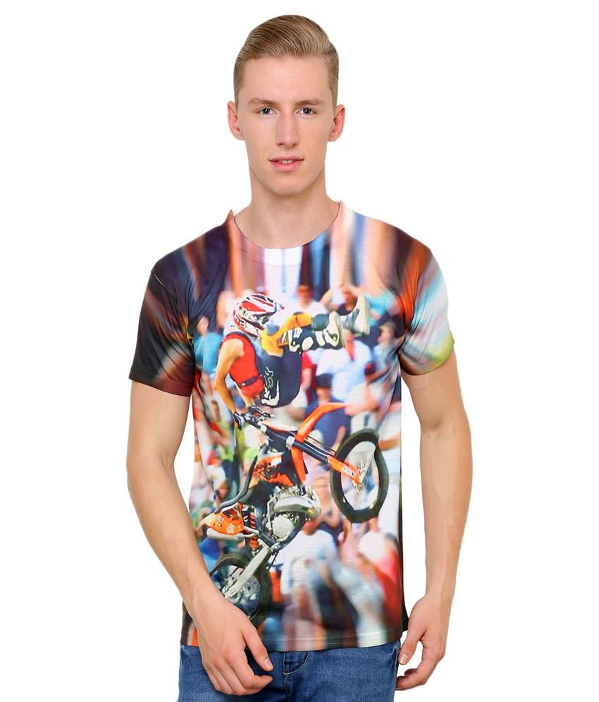 Can Can 3D Graphic Printed Round Neck T Shirts