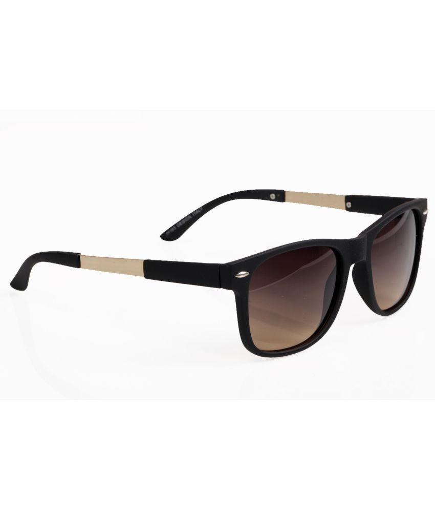 Elijaah 14163_Black_Brown Wayfarer Sunglasses