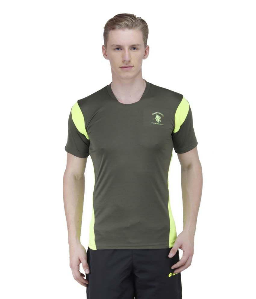 Greenwich United Polo Club Green Polyester T Shirt