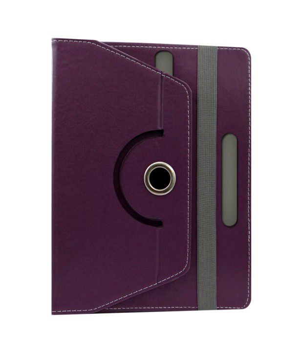 Acm-Flip-Cover-For-Ambrane-Aq880-Tablet-Stand-Cover-Holder-Purple-Purple