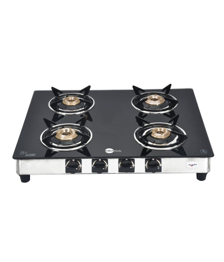 Gas Cooktop Glass Black Pearl Plasma Four Burner Toughened Glass Gas Stove Price In