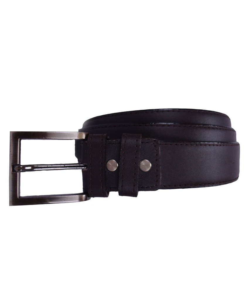 Revo Brown Leather Pin Buckle Formal Belt For Men