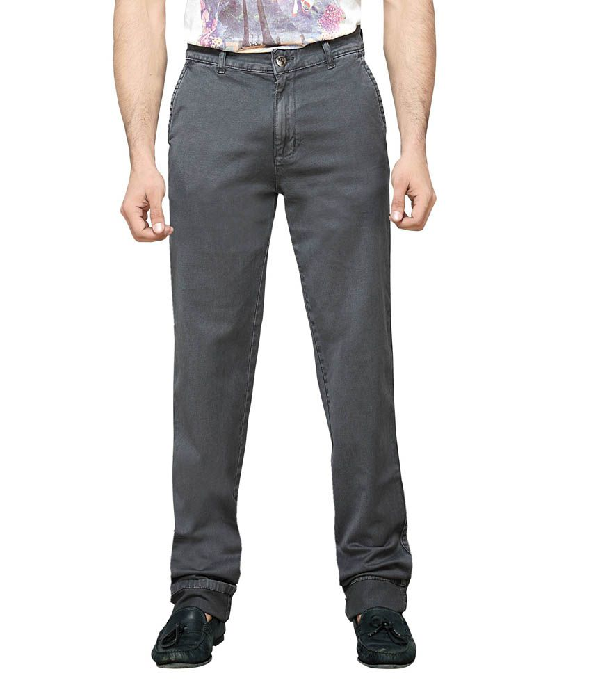 Dragaon Jeans Gray Cotton Jeans