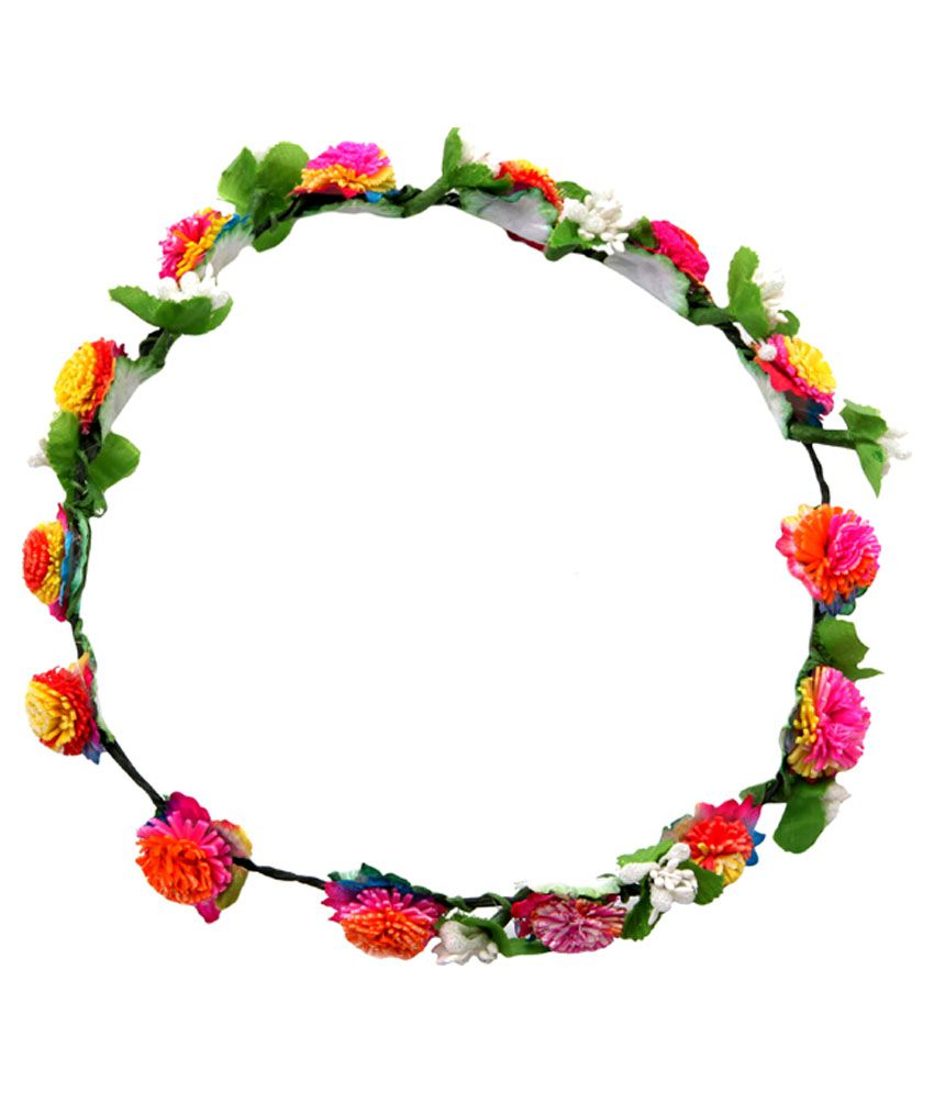 Sanjog Multicolor Flower Crowntiara For Beachbirthday Parties For