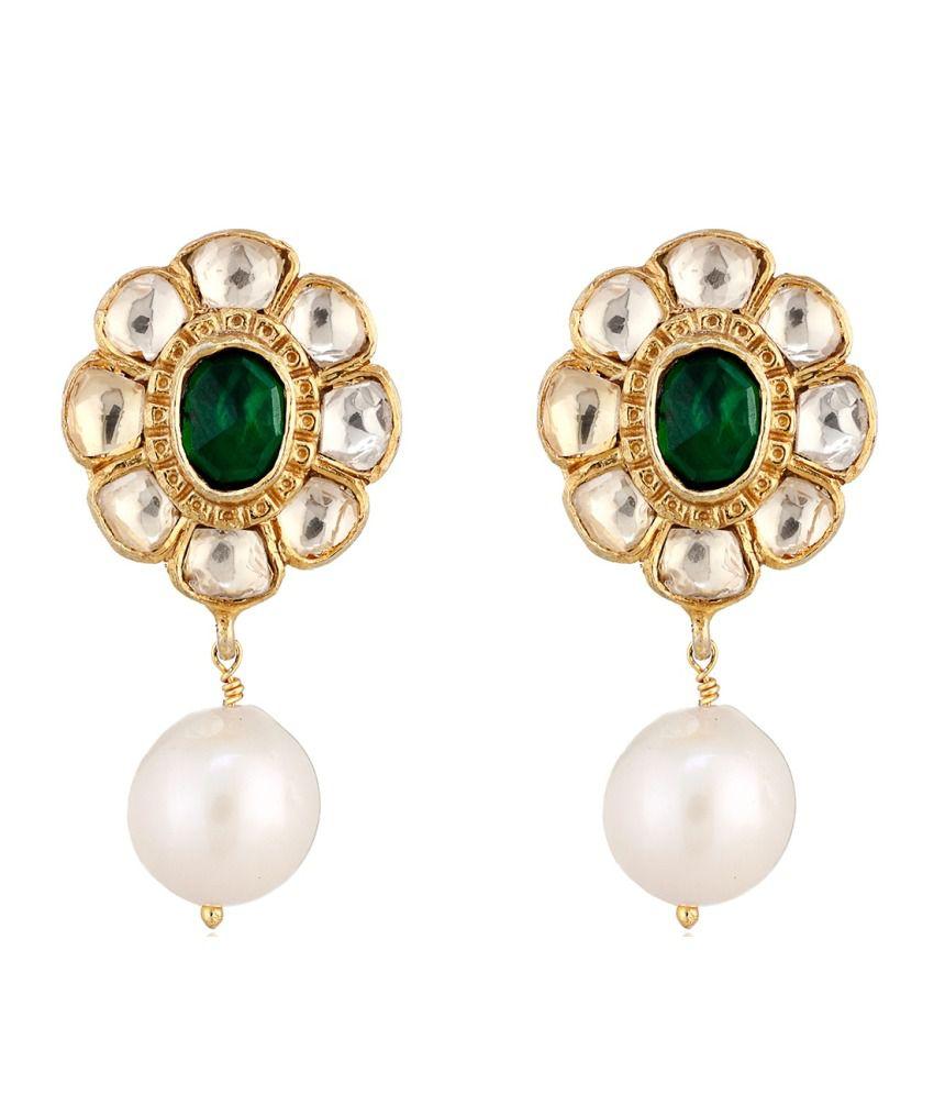 Aarohee 92.5 Sterling Silver Drop Earrings