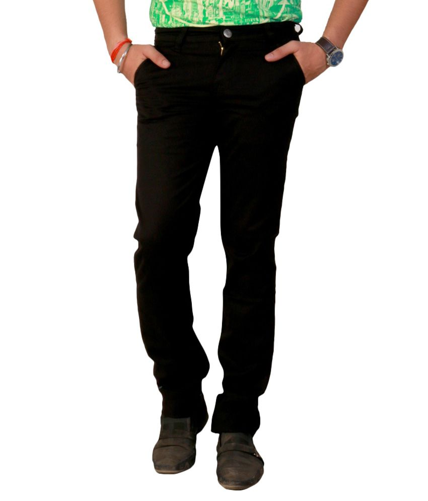 Ansh Fashion Wear Fashion Wear Black Regular Fit Jeans