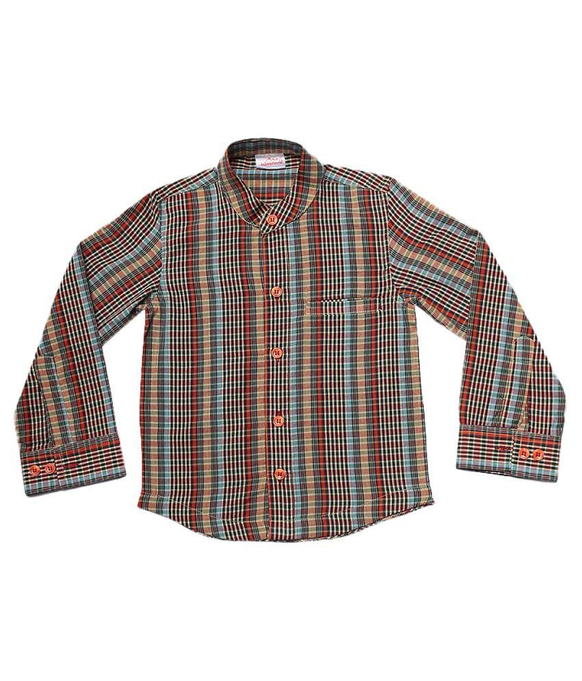 Babeezworld Multi Cotton Full Sleeves Solid Shirt