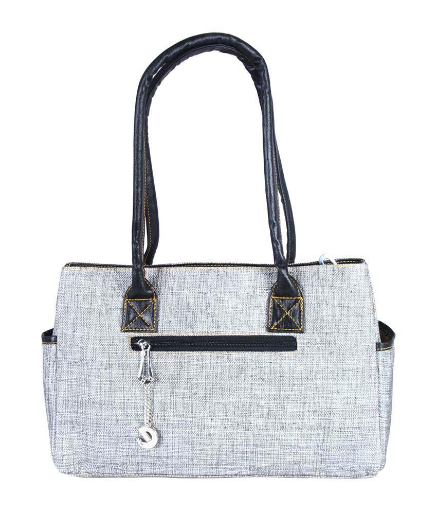 Merci Gray Shoulder Bag