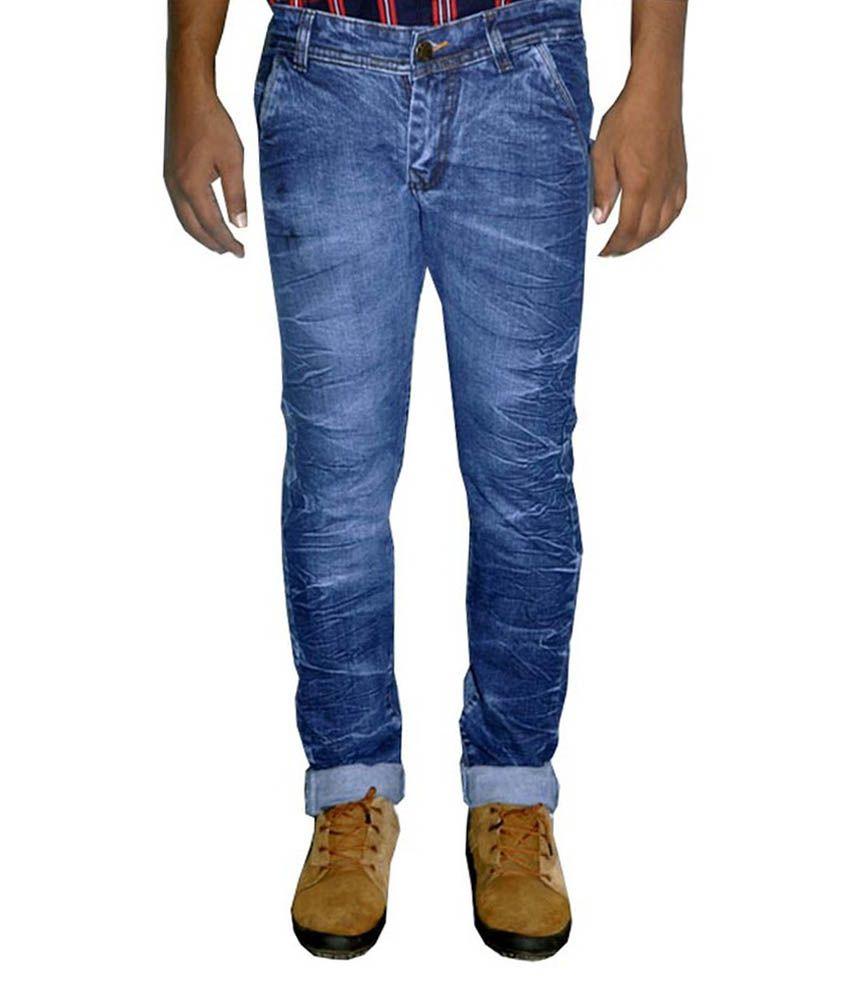 Ms2 Jeans Blue Regular Fit Jeans