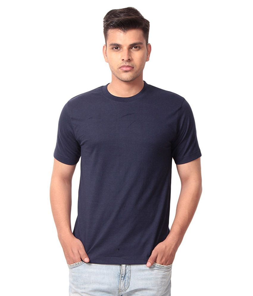 Velmuruga Tex Blue Cotton T Shirt