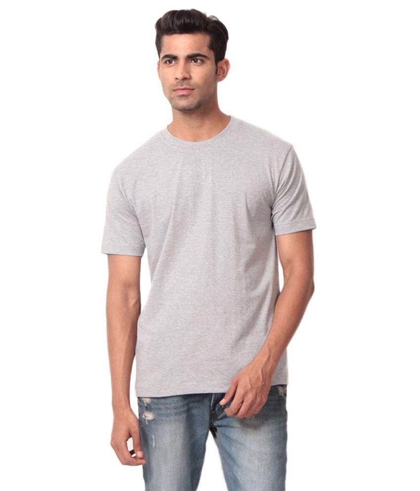 Velmuruga Tex Gray Cotton T Shirt