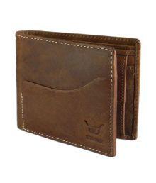 Hidelink Leather Brown Men Formal Wallet