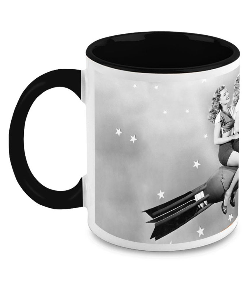 HomeSoGood Models On A Ride Ceramic Coffee Mug