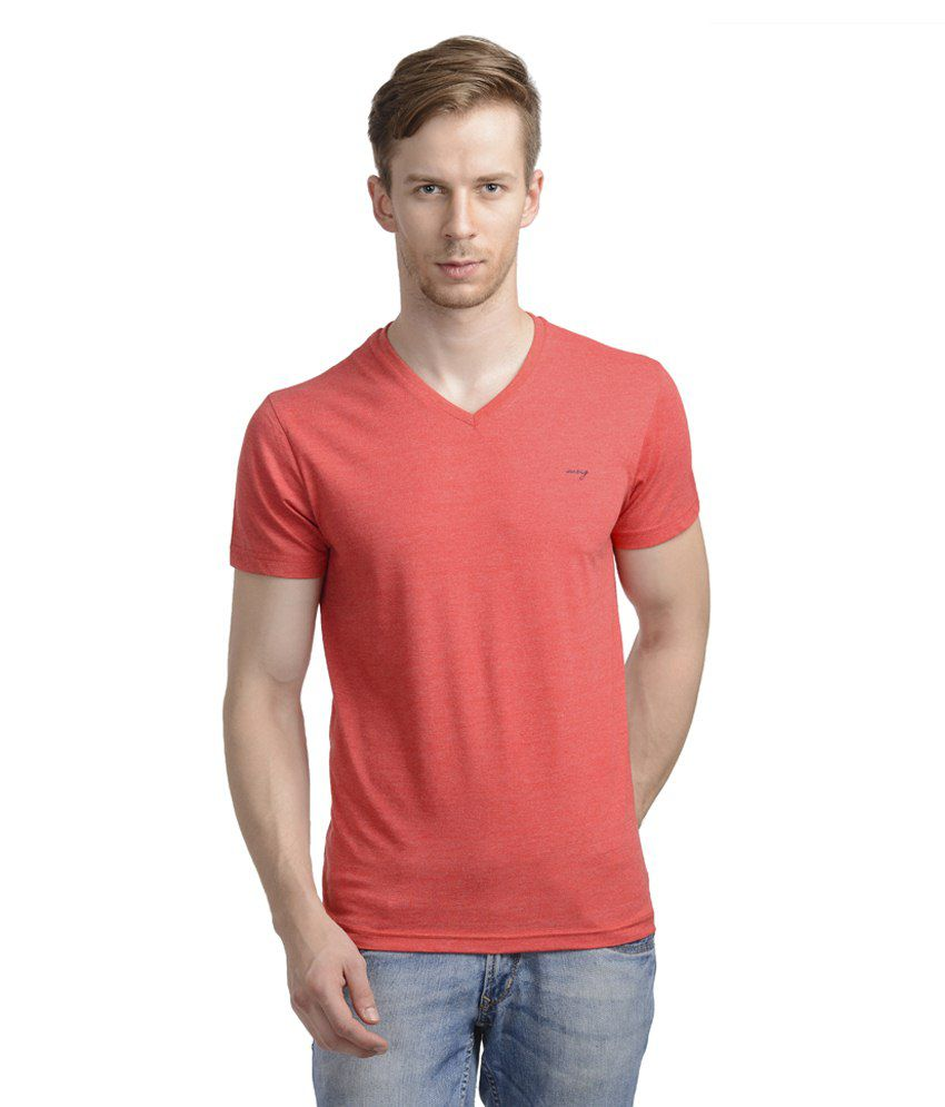 Wrig Red Cotton T Shirt