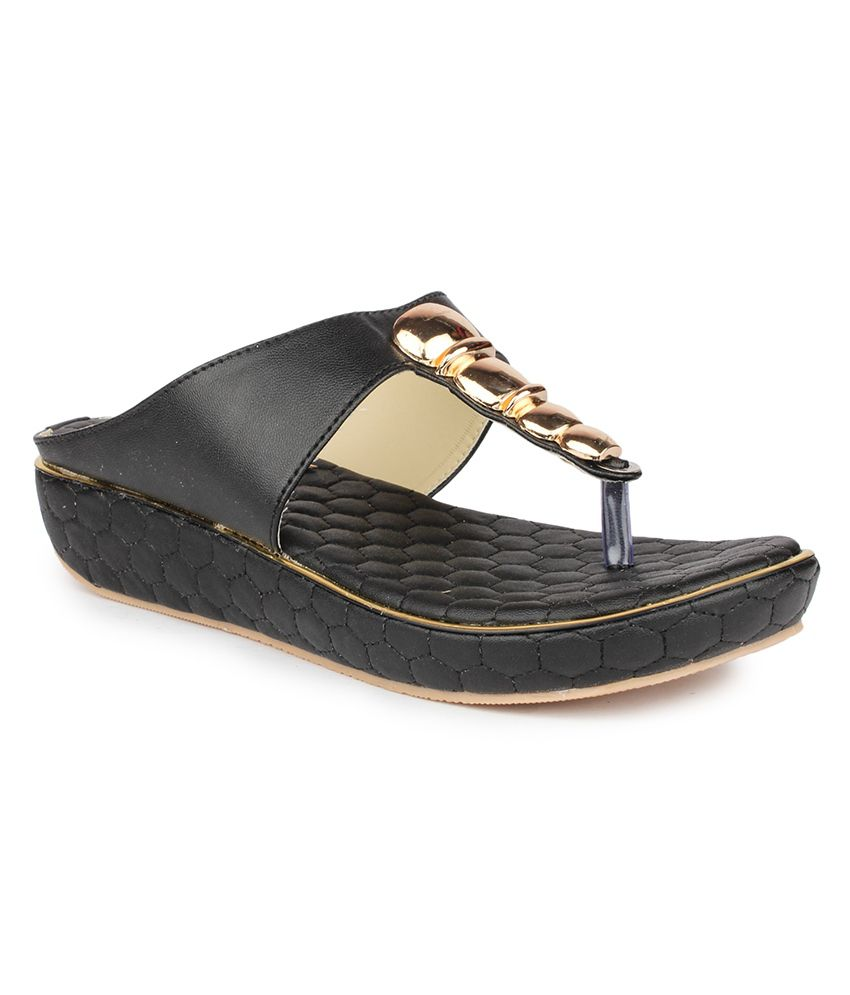 DJH Black Flat Slip-On