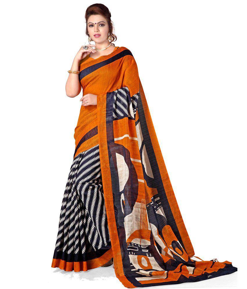 Majestic Silk Multicoloured Bhagalpuri Silk Saree