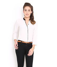 Trend Arrest White Polyester Shirts