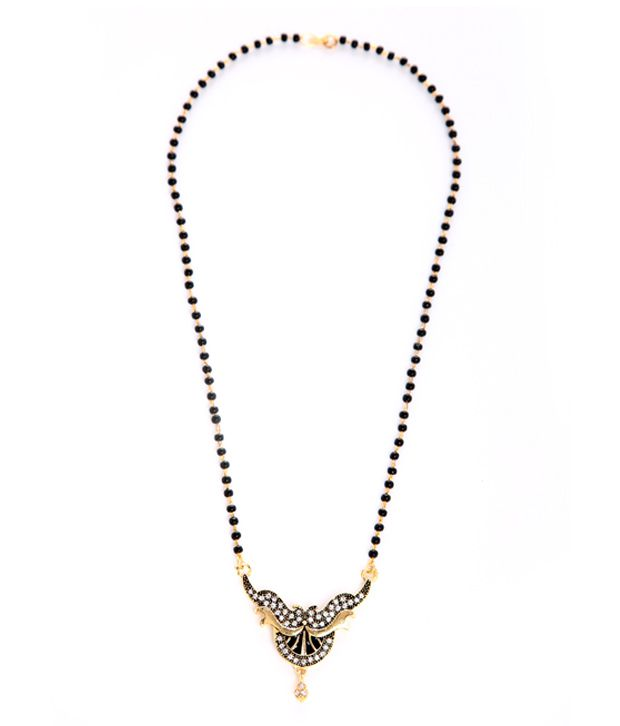 Goldnera Black American Diamond Mangalsutra