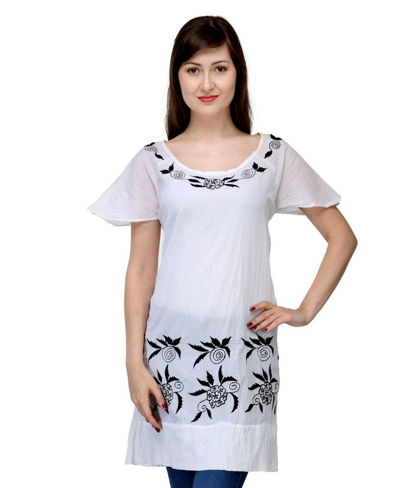 13745a8d415 India Inc White Cotton Tunics - Buy India Inc White Cotton Tunics Online at  Best Prices in India on Snapdeal