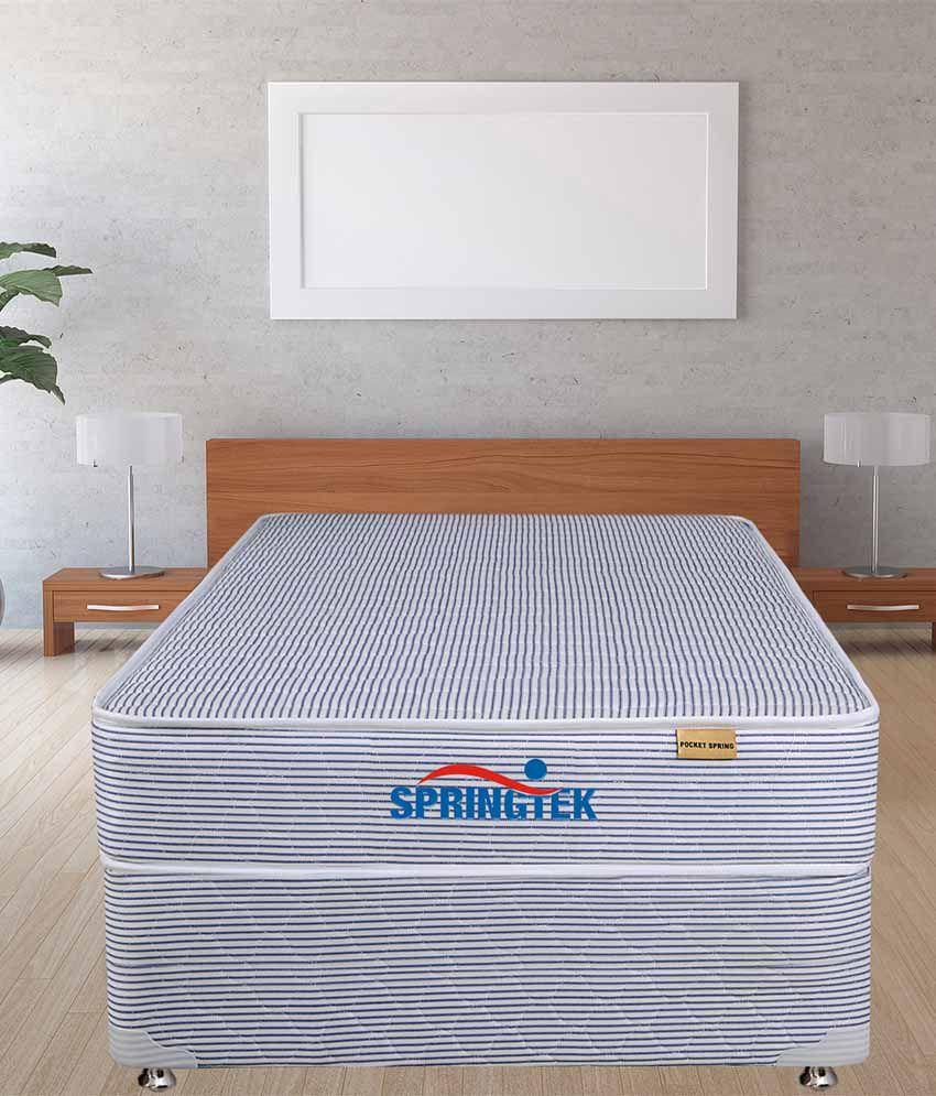 springtek super soft pocket spring mattress 6 inches buy