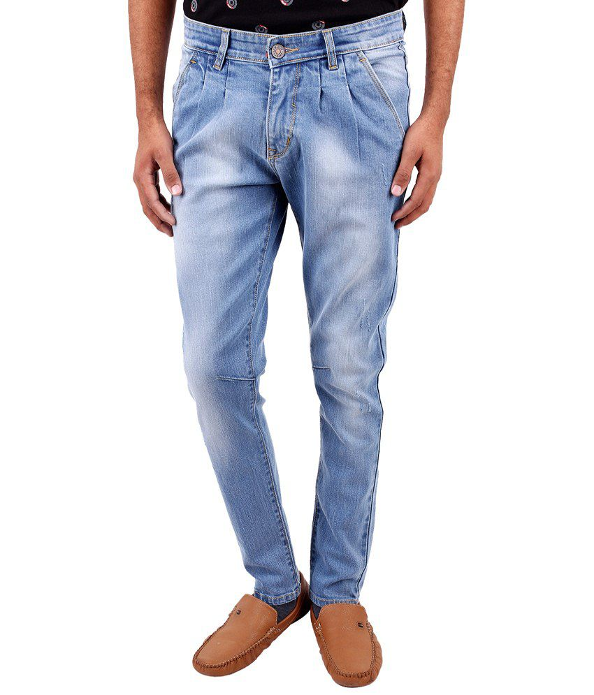 La Marino Light Blue Skinny Fit Jeans for Men
