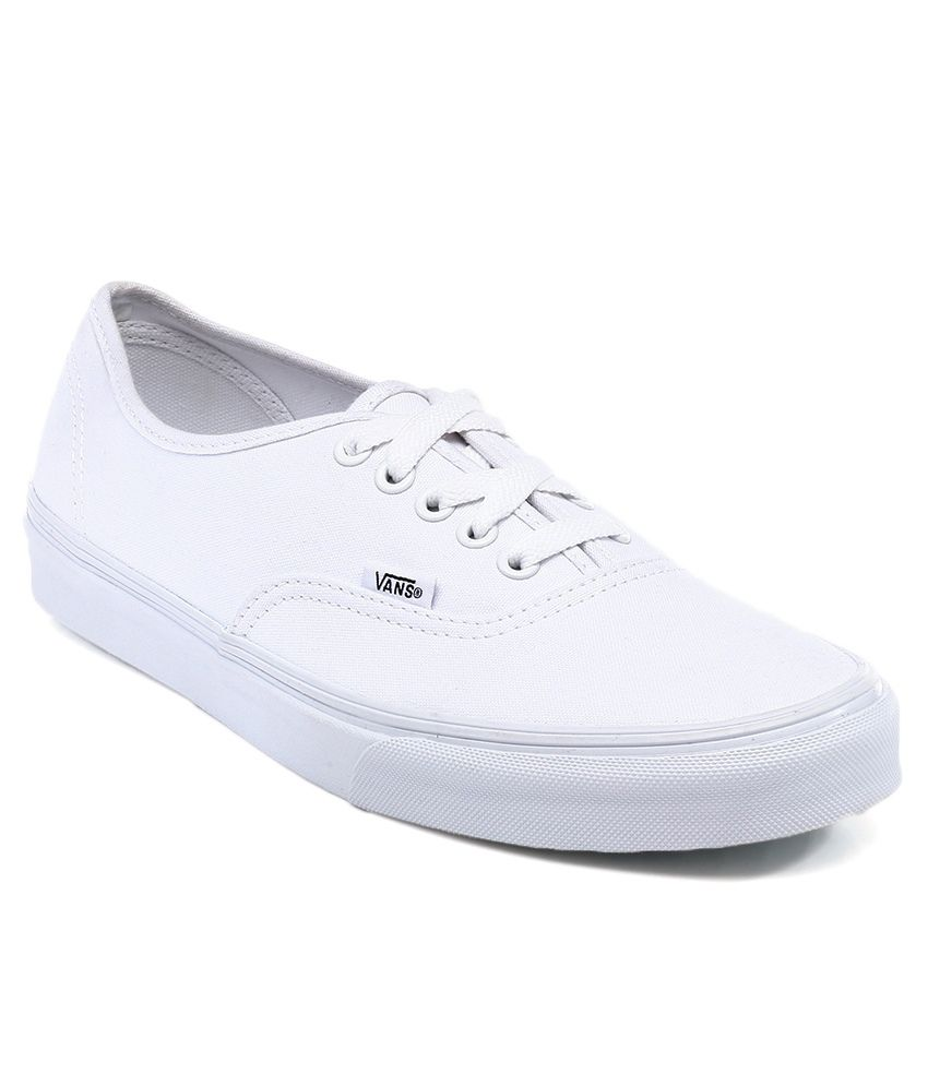 1dcb7e34efe Vans White Casual Shoes Price in India- Buy Vans White Casual Shoes Online  at Snapdeal