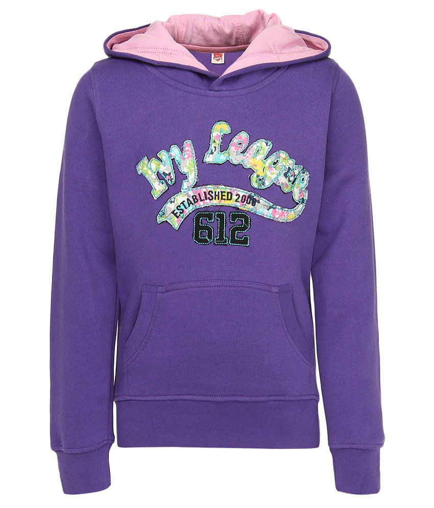 612 League Purple Full Sleeves Regular Sweatshirt