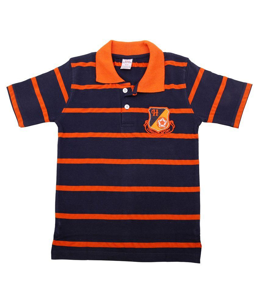 Hillman Navy Cotton Striped T-shirt