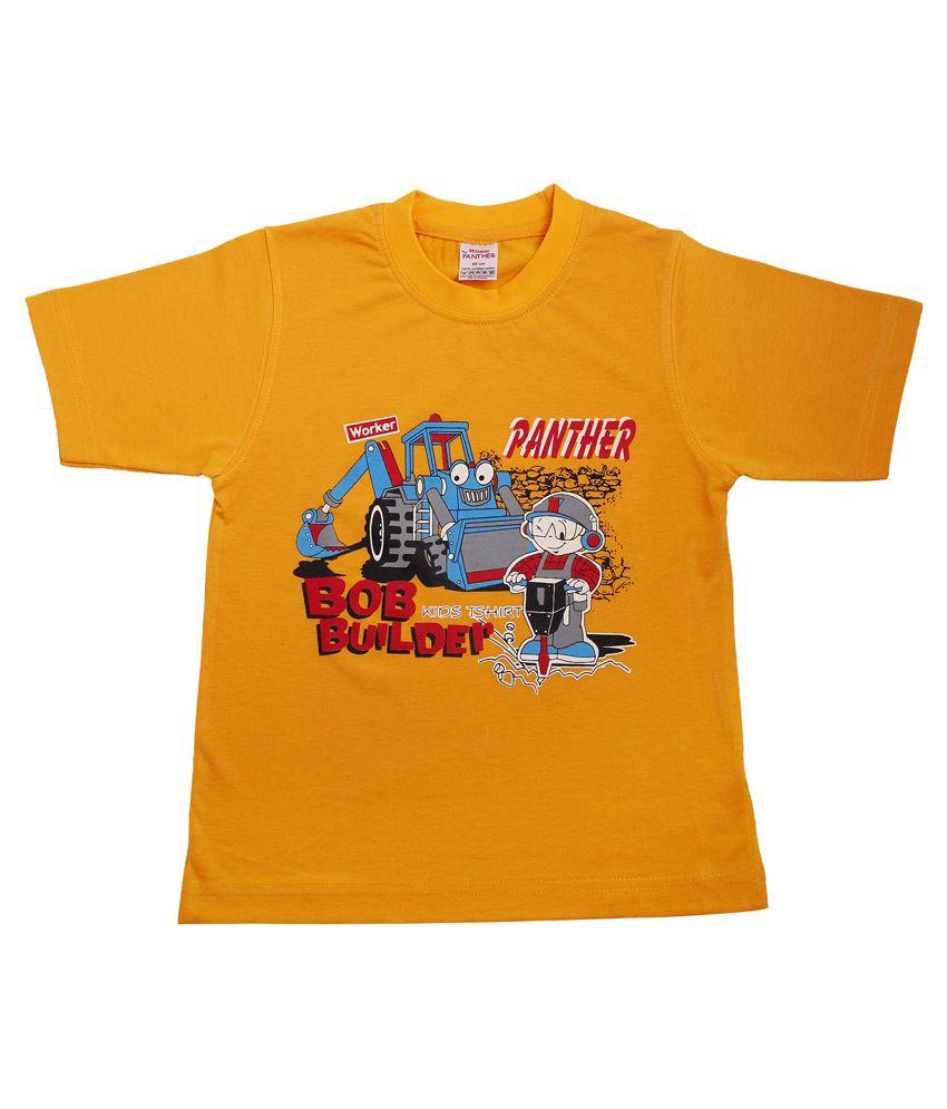 Hillman Orange Cotton Graphics T-shirt