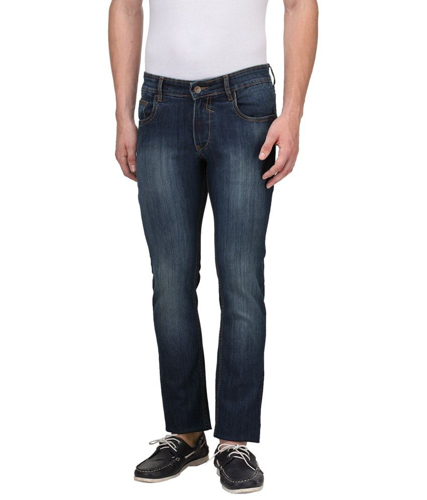 Hubberholme Trendy Blue Slim Fit Jeans for Men